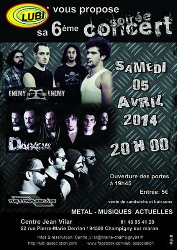 Les concerts LUBI - Musiques actuelles Soirée Metal -  5 avril 2014