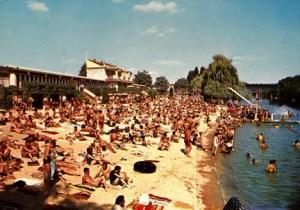 La plage - Base nautique municipale - 1950
